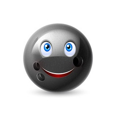 Cartoon bowling ball character vector image