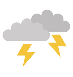 clouds storm electric icon vector image