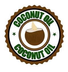 Coconut oil label or sticker vector