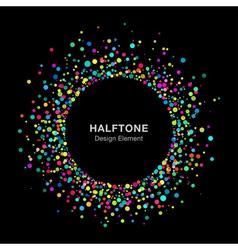 Colorful bright abstract halftone logo design elem vector