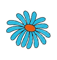 Cute flower spa emblem vector