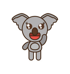 Cute koala toy kawaii image vector