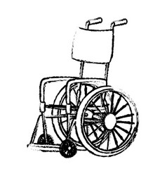 Disabled wheelchair handicap medical equipment vector