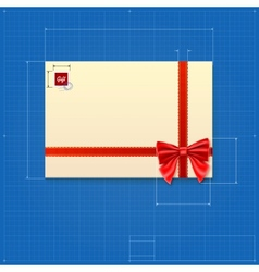 Drawing of a mail envelope vector image vector image