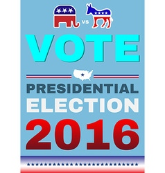 Election 2016 Elephant versus Donkey Banner vector image