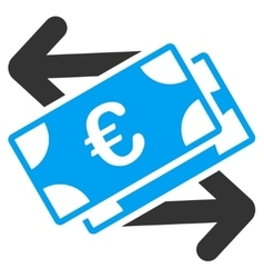Euro Banknotes Payments Icon vector