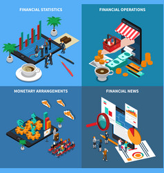 Financial technology isometric design concept vector