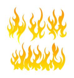 Fire icon set design element vector