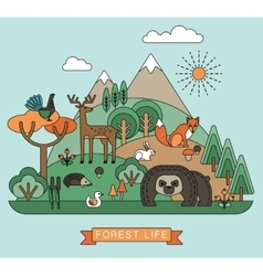 Forest life vector