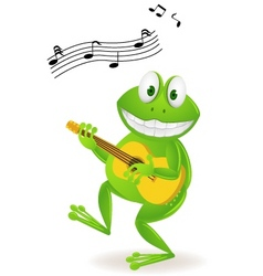 frog playing music vector image vector image