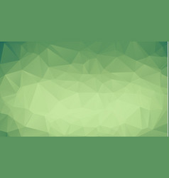 green polygonal mosaic background creative design vector image