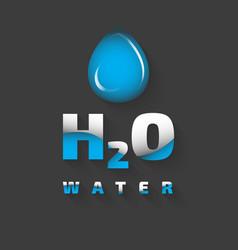 H2o icon vector