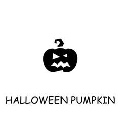 Halloween pumpkin flat icon vector