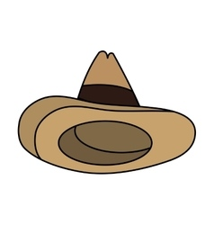 Isolated mexican hat design vector