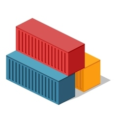 Isometric 3d container delivery vector