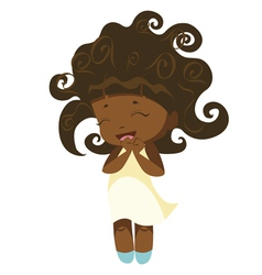 Kawaii afro princess vector