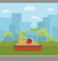 kid s playground colorful cartoon vector image