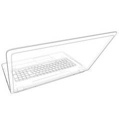 laptop outline isolated on white background vector image
