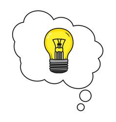 Light bulb idea cartoon vector