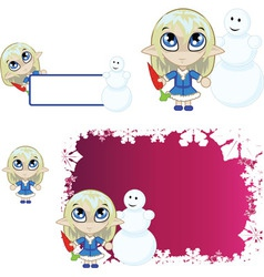 Little elf Blue vector image