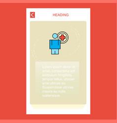 medical doctor mobile vertical banner design vector image