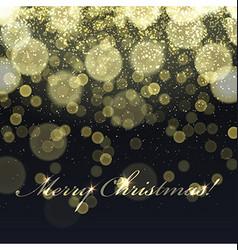 Merry Christmas Golden Lights Background vector image