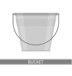 metal bucket isolated vector image