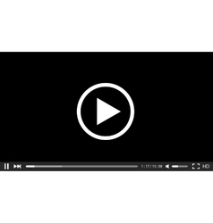 Modern video player background vector