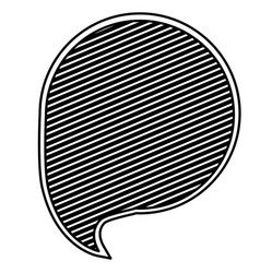 Monochrome silhouette with circular speech with vector