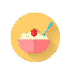 Oatmeal dish in flat design vector