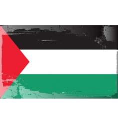 Palestine national flag vector image