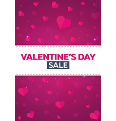 poster valentines day sale background with hearts vector image