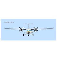 Private plane vector