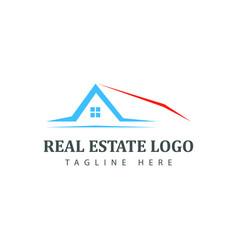 Real estate logotype template construction logo vector