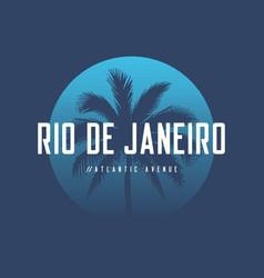 Rio de janeiro atlantic avenue t-shirt and apparel vector