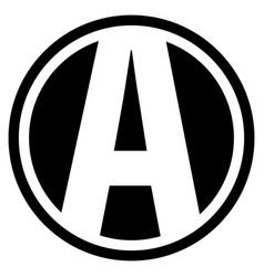 Round a logo vector