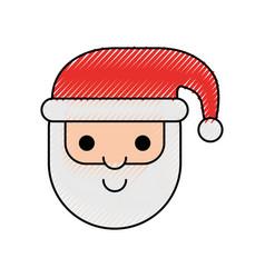 santa claus christmas cartoon character with hat vector image