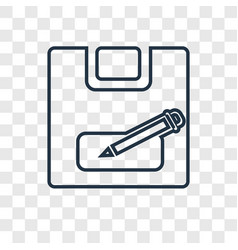 Save concept linear icon isolated on transparent vector