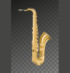 saxophone music instrument on transparent vector image
