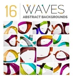 Set of dynamic waves vector image