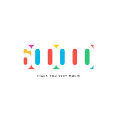 six hundred thousand subscribers baner colorful vector image