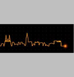 strasbourg light streak skyline vector image