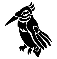 Tattoo of a bird vector image