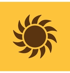 The sunshine icon Sunrise and sunshine weather vector image