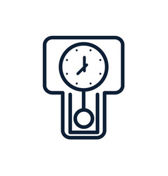 Time classic clock pendulum linear design vector