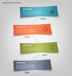 Time line info graphic with colored labels bent vector