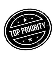Top priority rubber stamp vector