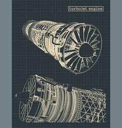 Turbojet engine vector