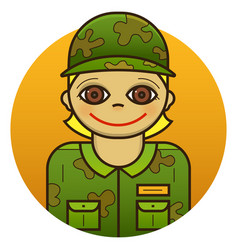 woman soldier vector image