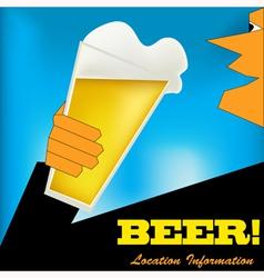 Cheers Beer Background vector image vector image